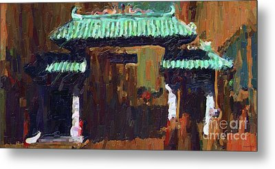 Chinatown Gate Metal Print by Wingsdomain Art and Photography