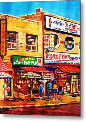 Chinatown Markets Metal Print by Carole Spandau