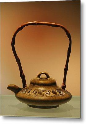 Chinese Teapot - A Symbol In Itself Metal Print by Christine Till