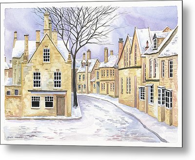 Chipping Campden In Snow Metal Print by Scott Nelson