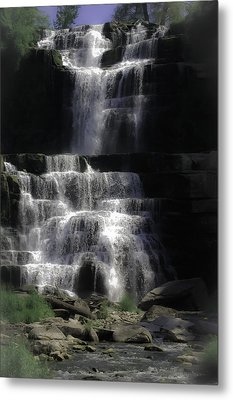 Chittenango Falls Metal Print by DigiArt Diaries by Vicky B Fuller