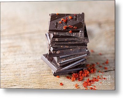 Chocolate And Chili Metal Print by Nailia Schwarz