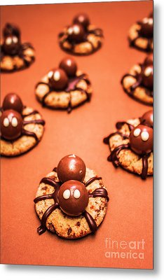 Chocolate Peanut Butter Spider Cookies Metal Print by Jorgo Photography - Wall Art Gallery
