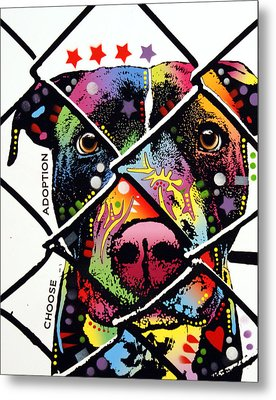 Choose Adoption Pit Bull Metal Print by Dean Russo