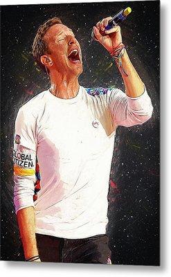 Chris Martin - Coldplay Metal Print by Semih Yurdabak