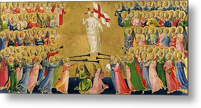 Christ Glorified In The Court Of Heaven Metal Print by Fra Angelico