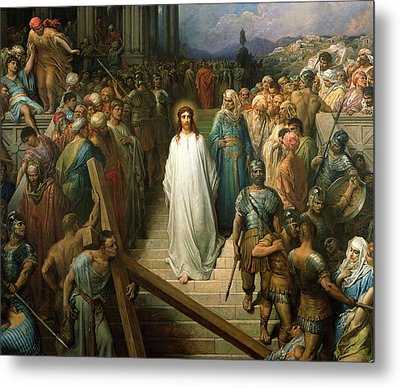 Christ Leaves His Trial Metal Print by Gustave Dore