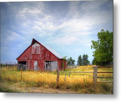 Christian School Road Barn Metal Print by Cricket Hackmann