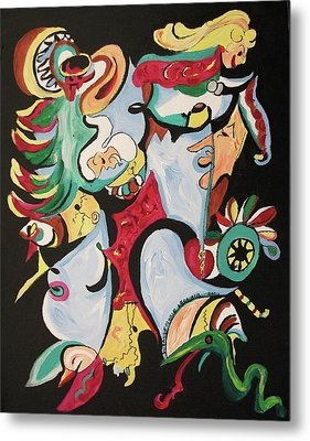 Christmas Chaos Metal Print by Suzanne  Marie Leclair