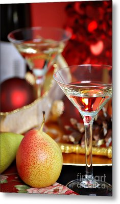 Christmas Cocktails Metal Print by HD Connelly