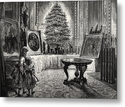 Christmas Eve At Windsor Castle Metal Print by English School