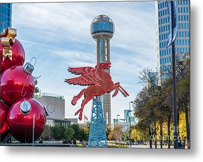 Christmas In Dallas Metal Print by Tod and Cynthia Grubbs