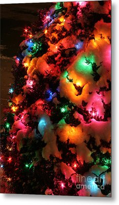 Christmas Lights Coldplay Metal Print by Wayne Moran