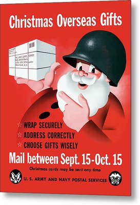 Christmas Overseas Gifts -- Ww2 Metal Print by War Is Hell Store
