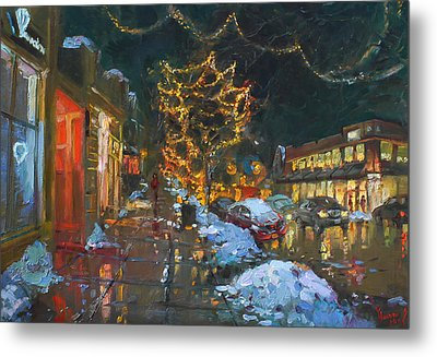 Christmas Reflections Metal Print by Ylli Haruni
