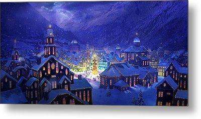 Christmas Town Metal Print by Philip Straub