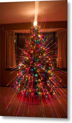 Christmas Tree Light Spikes Colorful Abstract Metal Print by James BO  Insogna