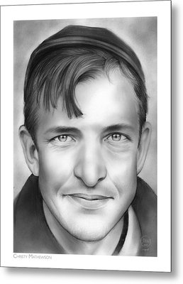 Christy Mathewson Metal Print by Greg Joens
