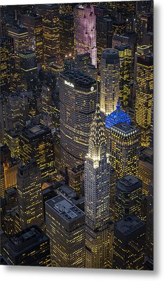 Chrysler Building Aerial View Metal Print by Susan Candelario