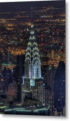 Chrysler Building At Night Metal Print by Jason Pierce Photography (jasonpiercephotography.com)