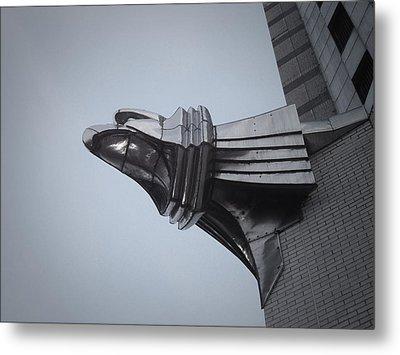 Chrysler Building Detail Metal Print by Naxart Studio
