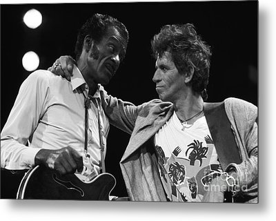 Chuck Berry And Keith Richards Metal Print by Terry O'Neill