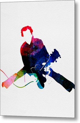 Chuck Watercolor Metal Print by Naxart Studio