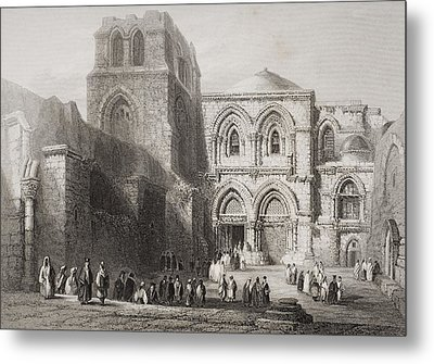 Church Of The Holy Sepulchre Metal Print by Vintage Design Pics