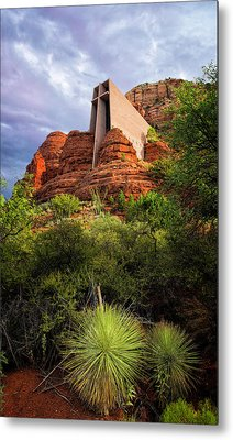 Church Of The Red Rocks Metal Print by Ron McGinnis