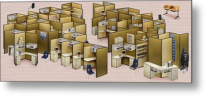 Churn Decluttered Metal Print by Simon Currell
