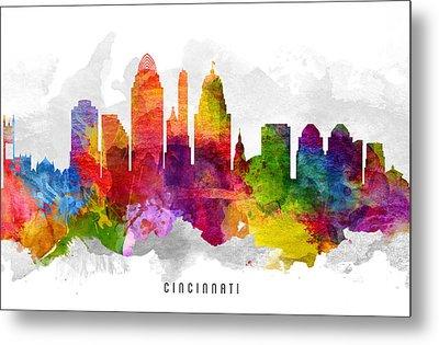Cincinnati Ohio Cityscape 13 Metal Print by Aged Pixel