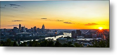 Cincinnati Sunrise II Metal Print by Keith Allen