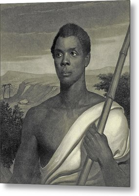 Cinque, The Chief Of The Amistad Captives Metal Print by J Sartain