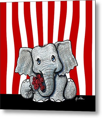 Circus Elephant Metal Print by Kim Niles