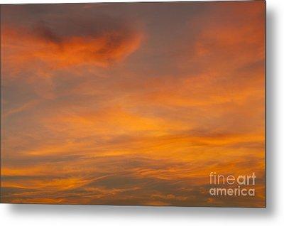 Cirrus Clouds At Sunset Metal Print by Jim Corwin