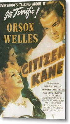 Citizen Kane - Orson Welles Metal Print by Georgia Fowler