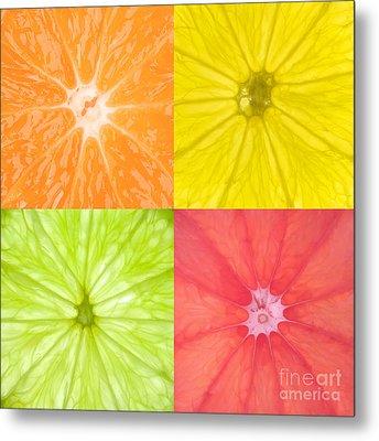 Citrus Fruits Metal Print by Richard Thomas