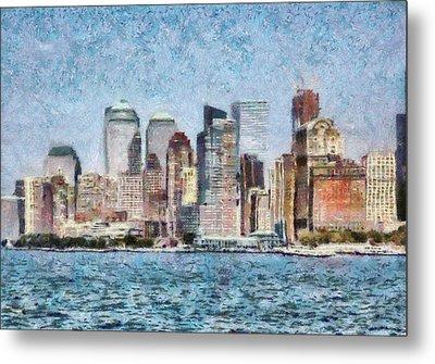 City - Ny - Manhattan Metal Print by Mike Savad
