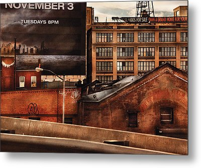 City - Ny - New York History Metal Print by Mike Savad