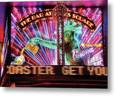 City - Vegas - Ny - The Bar At Times Square Metal Print by Mike Savad