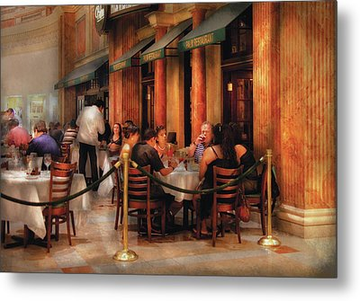 City - Venetian - Dining At The Palazzo Metal Print by Mike Savad