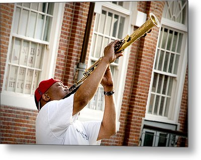City Jazz Metal Print by Greg Fortier