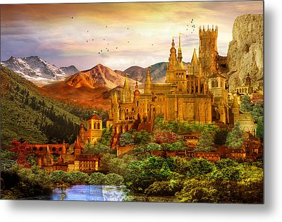 City Of Gold Metal Print by Mary Hood