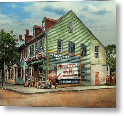 City- Va - C And G Grocery Store 1927 Metal Print by Mike Savad