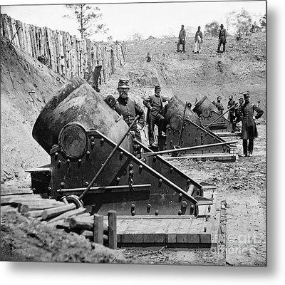 Civil War: Union Mortars Metal Print by Granger
