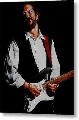 Clapton With Red Strap Metal Print by Richard Klingbeil