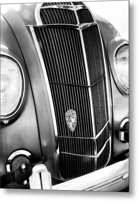 Classic Car Grill 1935 Desoto - Photography Metal Print by Ann Powell
