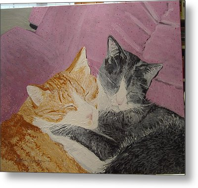 Claude And Chester Metal Print by Sharon  De Vore