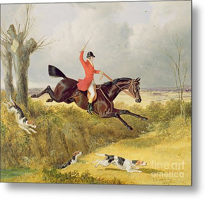 Clearing A Ditch Metal Print by John Frederick Herring Snr