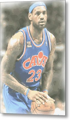 Cleveland Cavaliers Lebron James 1 Metal Print by Joe Hamilton
